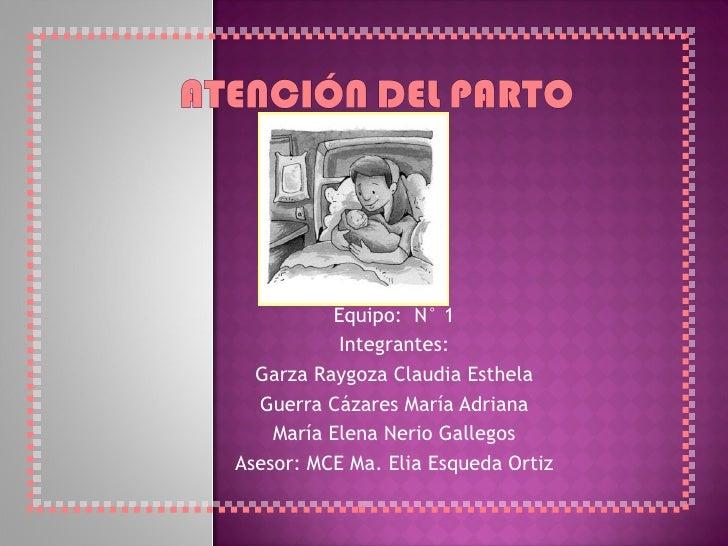 Equipo:  N° 1 Integrantes: Garza Raygoza Claudia Esthela Guerra Cázares María Adriana María Elena Nerio Gallegos Asesor: M...