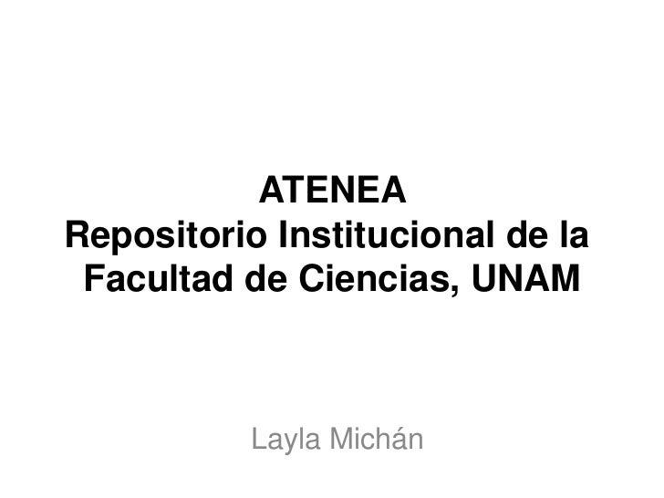 ATENEA Repositorio Institucional de laFacultad de Ciencias,UNAM<br />LaylaMichán<br />