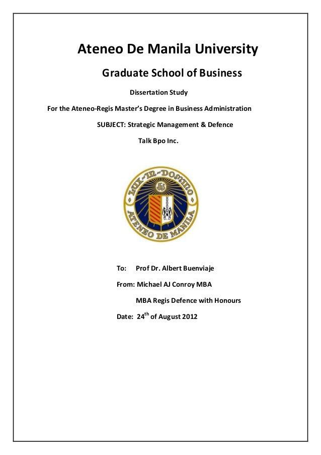 Ateneo Regis MBA Talk Bpo Strategies Slide Share Promo