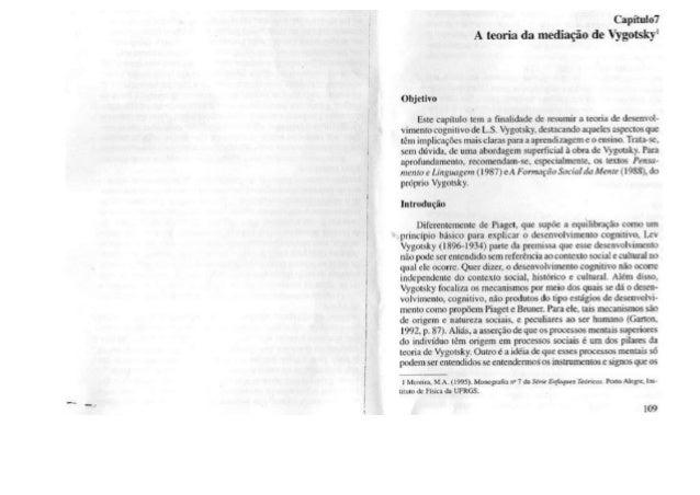 CAP 7- A teoria da mediação de vygotsky p. 109 -121
