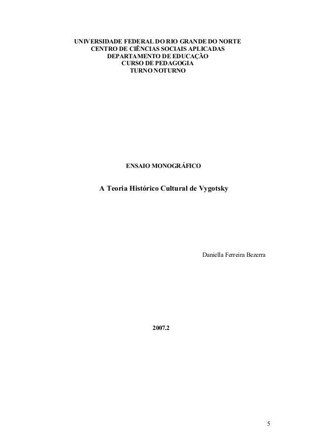 UNIVERSIDADE FEDERAL DO RIO GRANDE DO NORTE CENTRO DE CIÊNCIAS SOCIAIS APLICADAS DEPARTAMENTO DE EDUCAÇÃO CURSO DE PEDAGOG...