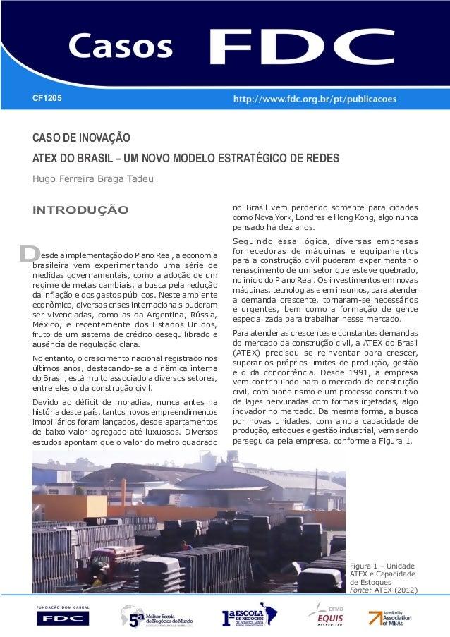 CASO DE INOVAÇÃO ATEX DO BRASIL – UM NOVO MODELO ESTRATÉGICO DE REDES Hugo Ferreira Braga Tadeu D CF1205 INTRODUÇÃO esde a...