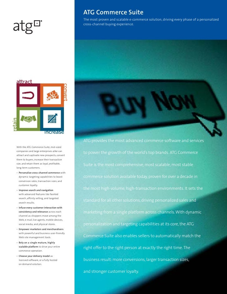 ATG Commerce Suite Brochure