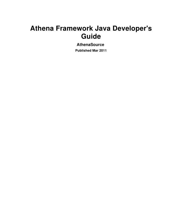 Athena java dev guide