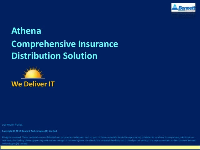 Athena - Leading Life and General Insurance Broking Software from Bennett Technologies