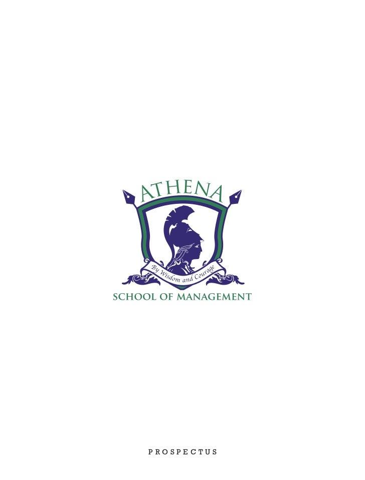 Athena School of Management Prospectus