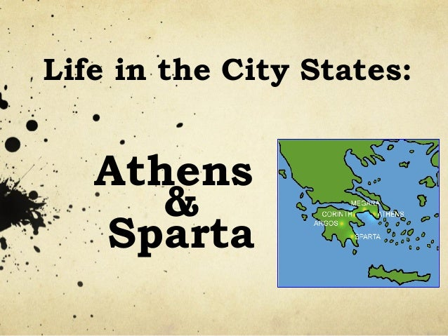 notes of sparta and athens compare What title(s) could be used to define the time period of ancient greece based   notes a comparison of athens & sparta (thucydides) if the spartans' city.