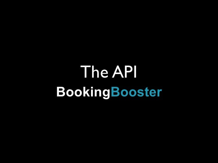 The API BookingBooster