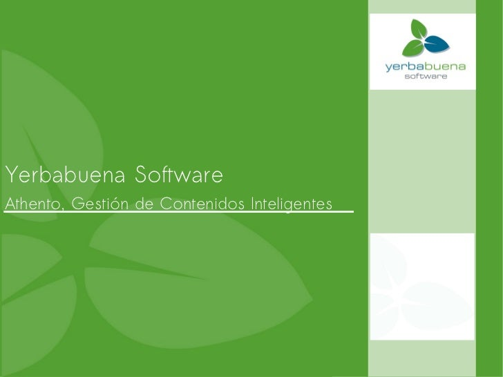 Yerbabuena Software  Athento, Gestión de Contenidos Inteligentes
