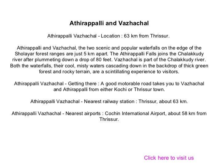 Athirappalli And  Vazhachal  Waterfalls