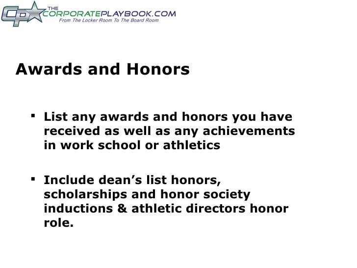 athletes resume