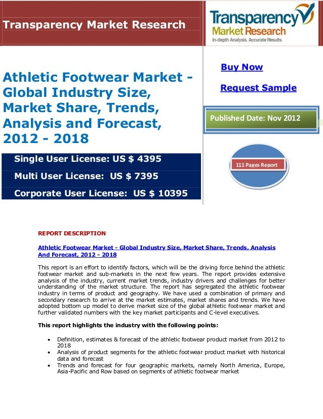athletic footwear industry analysis Footwear in the us: footwear recorded faster retail value growth than apparel in 2017, driven by sneakers and athletics shoes sports footwear.