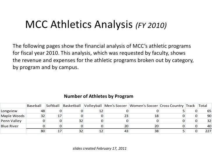 Athletics analysis