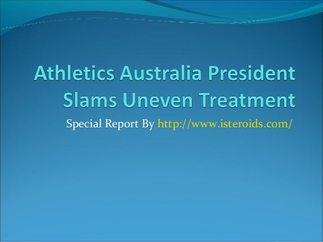 Athletics Australia President Slams Uneven Treatment