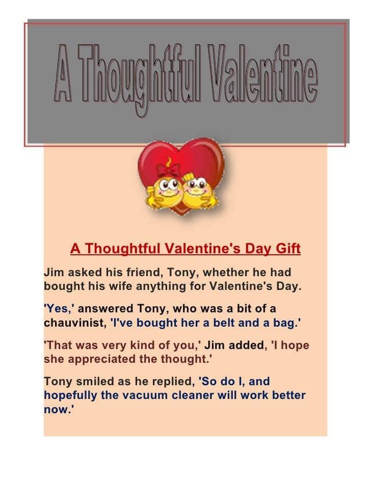 A thoughtful valentine