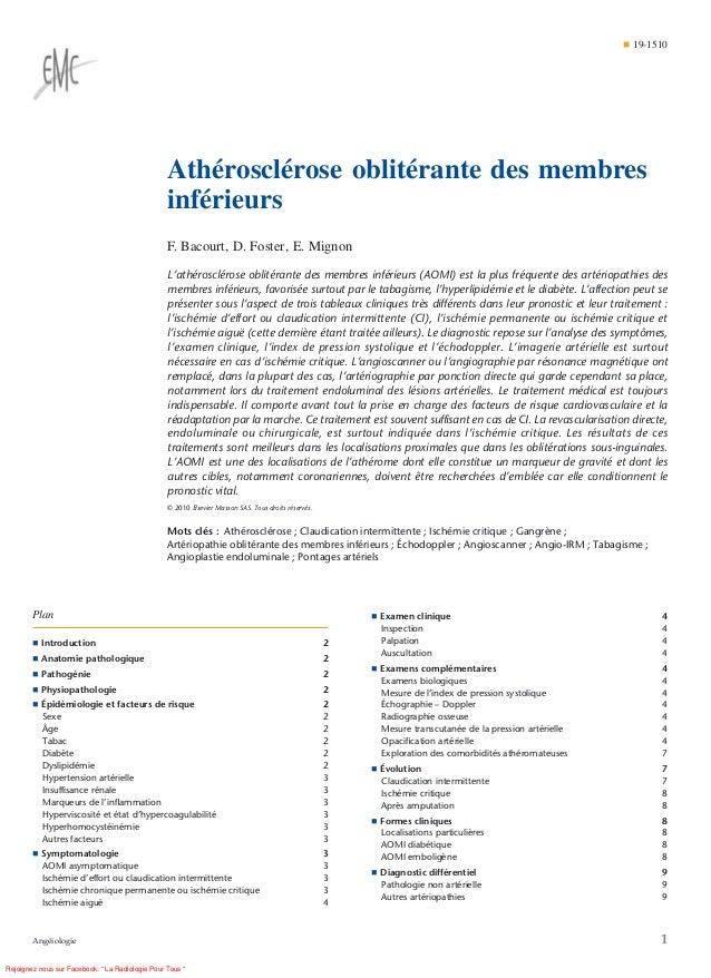 ¶ 19-1510                                                  Athérosclérose oblitérante des membres                         ...