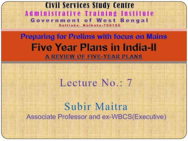 IAS Lecture 7 at Civil Services Study Centre at Administrative Training Institute, Kolkata