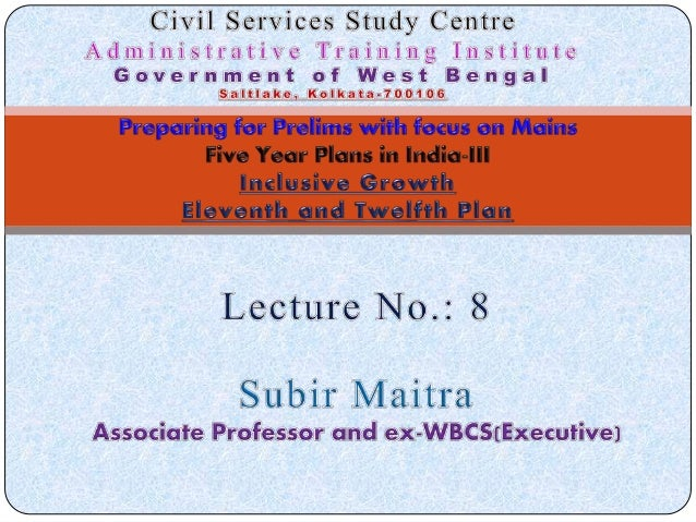 Lecture by S. Maitra on IAS Indian Economy at Civil Services Study Centre