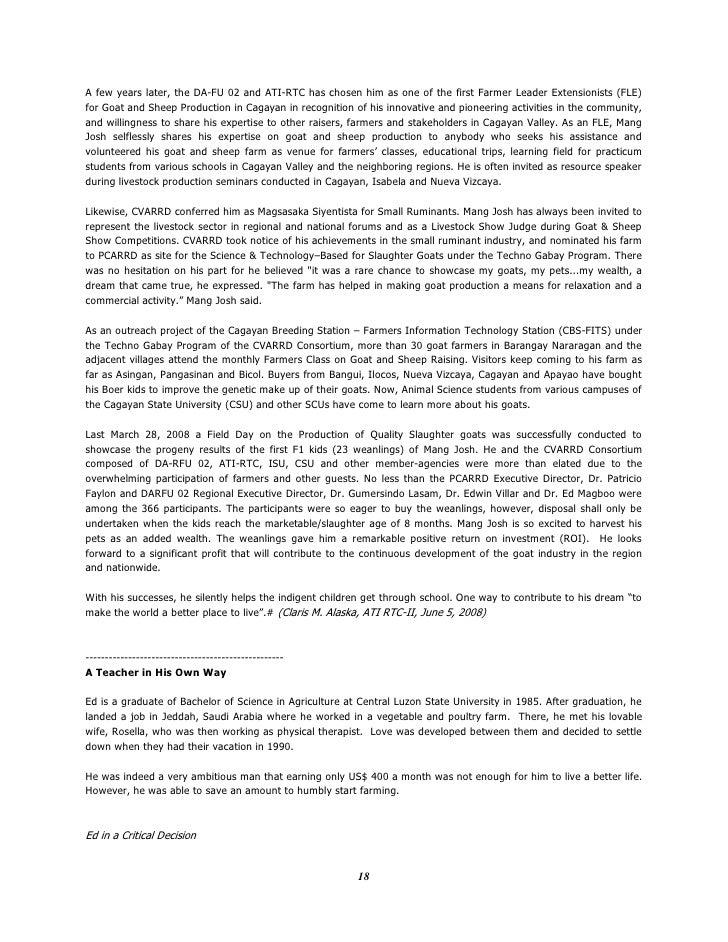 Classification essay sample