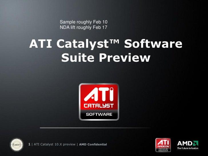 Ati Catalyst Preview