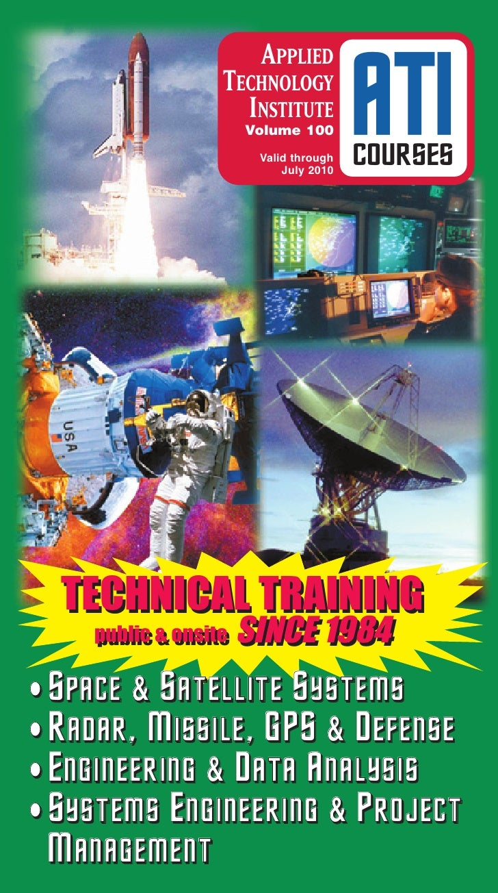 ATI Courses Professional Development Technical Training Space Satellite Radar Defense Systems Engineering Catalog Vol100