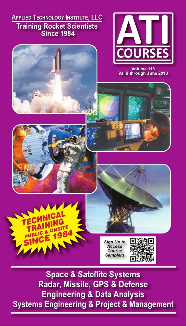 ATI Catalog Of Space, Satellite, Radar, Defense and Systems Engineering Technical Training Short Courses