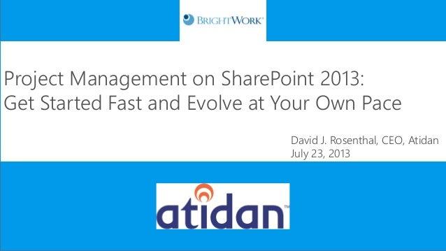 Atidan - BrightWork Project Management 2013 for SharePoint Webinar