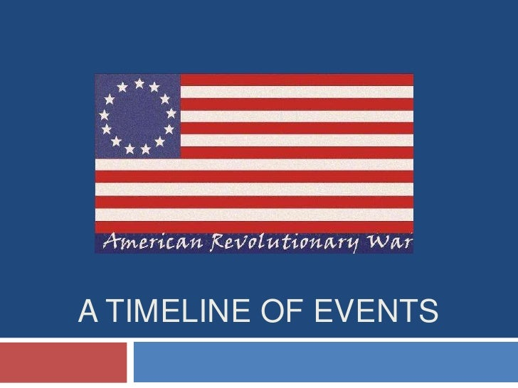 A Timeline Of American Revolution Events
