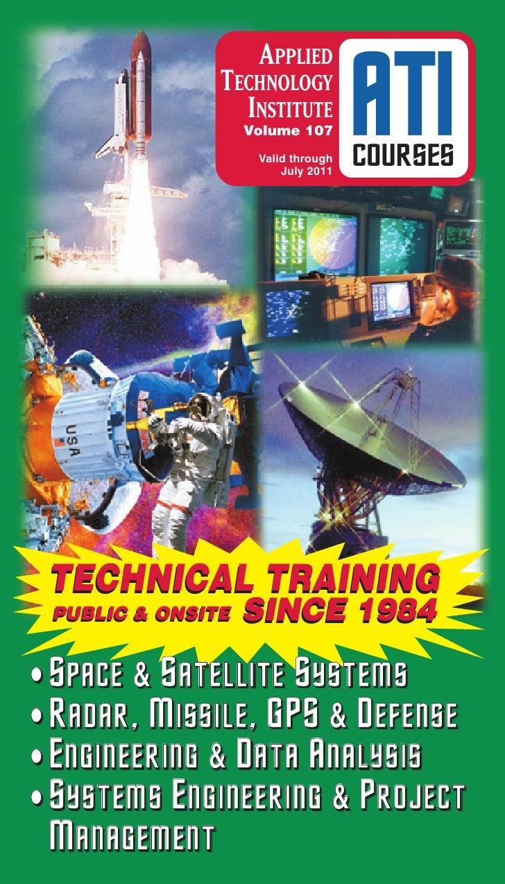 APPLIED               TECHNOLOGY                 INSTITUTE                   Volume 107                    Valid through  ...