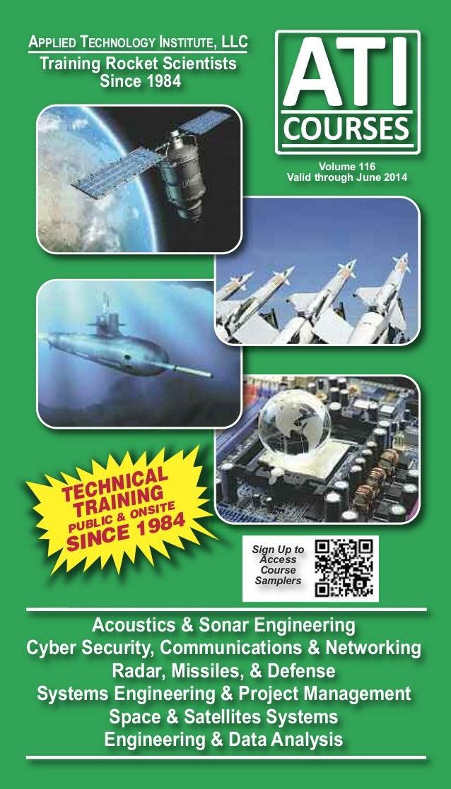 APPliED TEChNology iNSTiTuTE, llC  Training Rocket Scientists Since 1984  Volume 116 Valid through June 2014  AL H N IC G ...