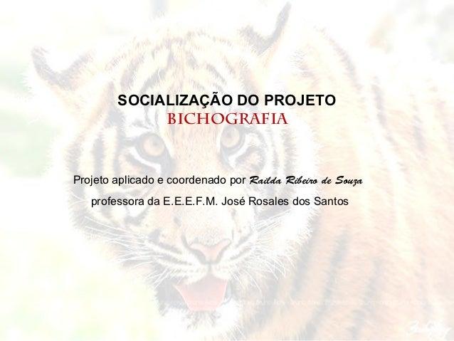 SOCIALIZAÇÃO DO PROJETO             BICHOGRAFIAProjeto aplicado e coordenado por Railda Ribeiro de Souza   professora da E...