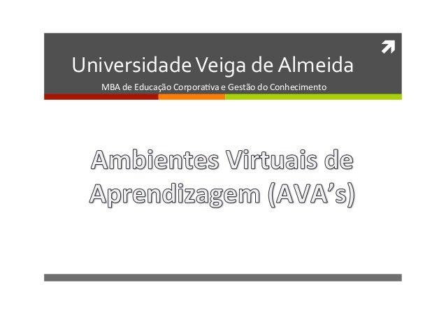 ì Universidade Veiga de Almeida     MBA de Educação Corpora1va e Gestão do Conhecimento