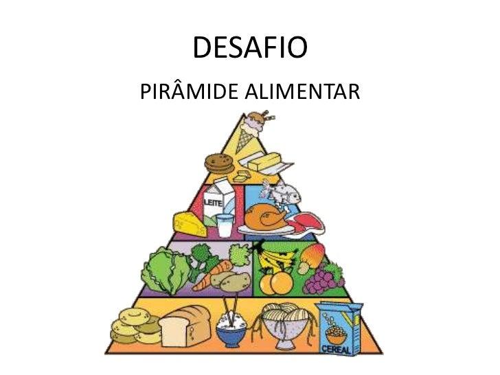 DESAFIOPIRÂMIDE ALIMENTAR
