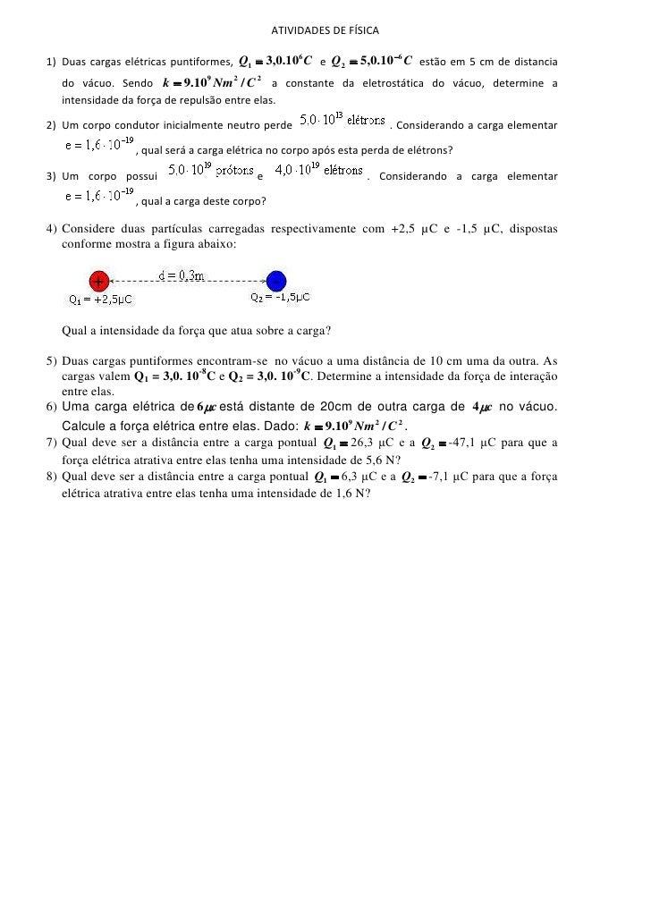 Atividades de física