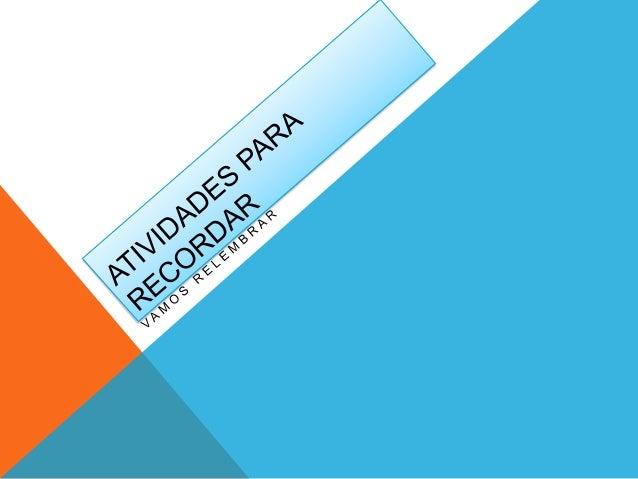 Atividades de português 3º ano no powerpoint