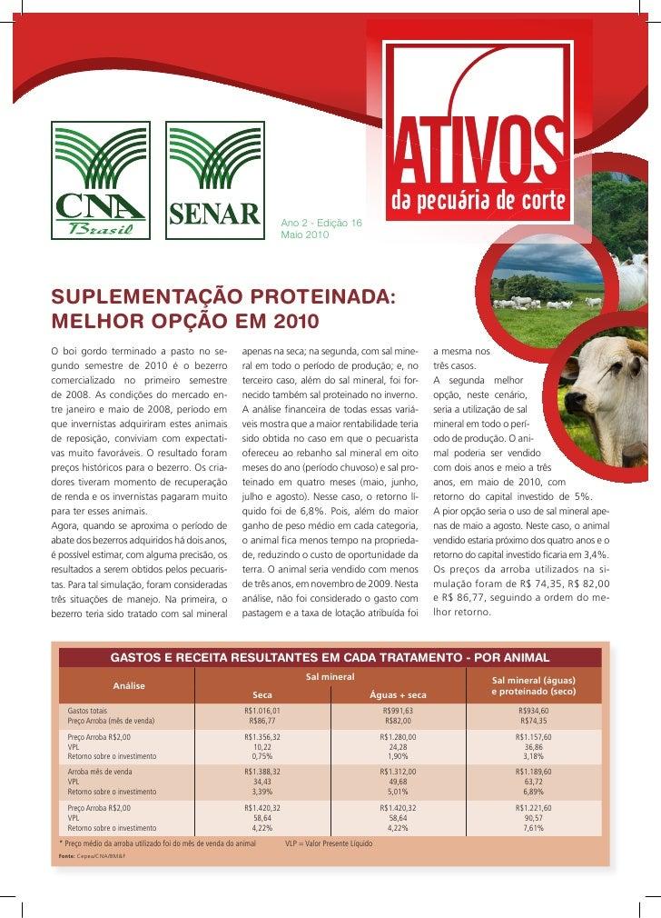 Ano 2 - Edição 16                                                                          Maio 2010     SUPLEMENTAÇÃO PRO...