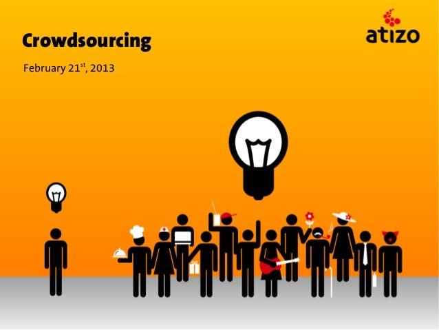 CrowdsourcingFebruary 21st, 2013