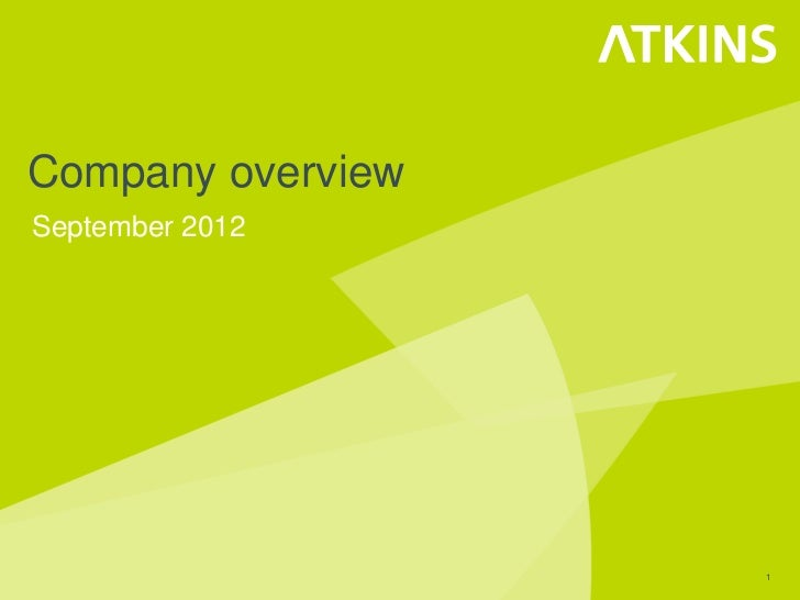 Atkins Corporate Presentation