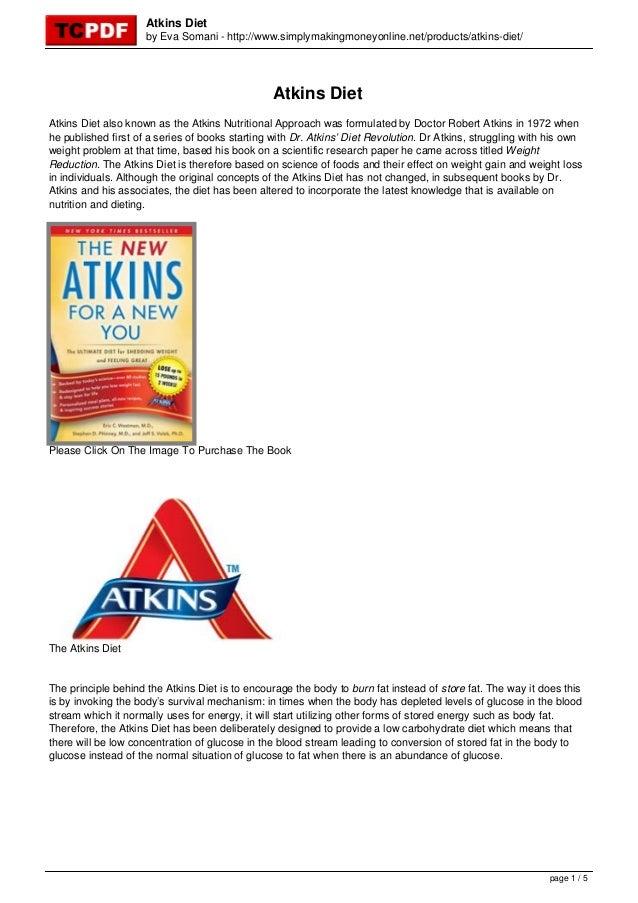 Atkins Diet                     by Eva Somani - http://www.simplymakingmoneyonline.net/products/atkins-diet/              ...