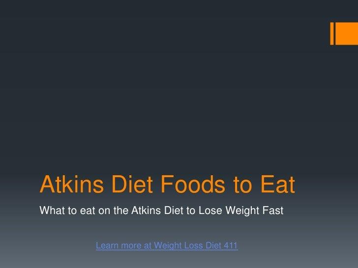 Atkins diet foods to eat