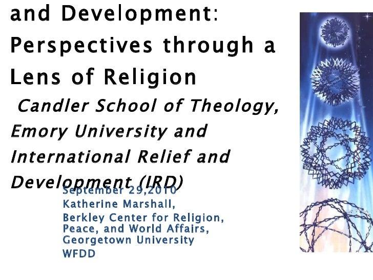 Katherine Marshall: Keynote at IRD event at Emory University