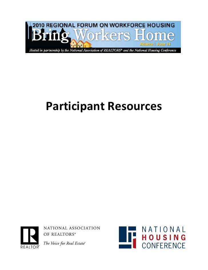 Participant Resources