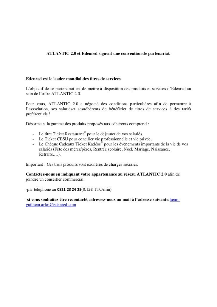 Partenariat Atlantic 2.0 et Edenred France