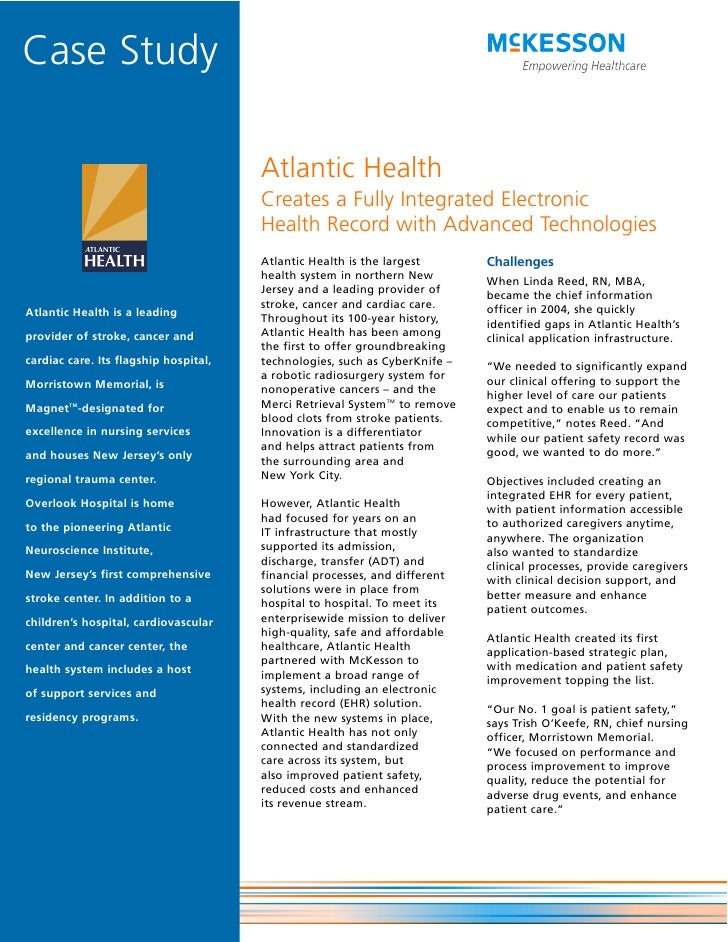 Case Study                                         Atlantic Health                                        Creates a Fully ...