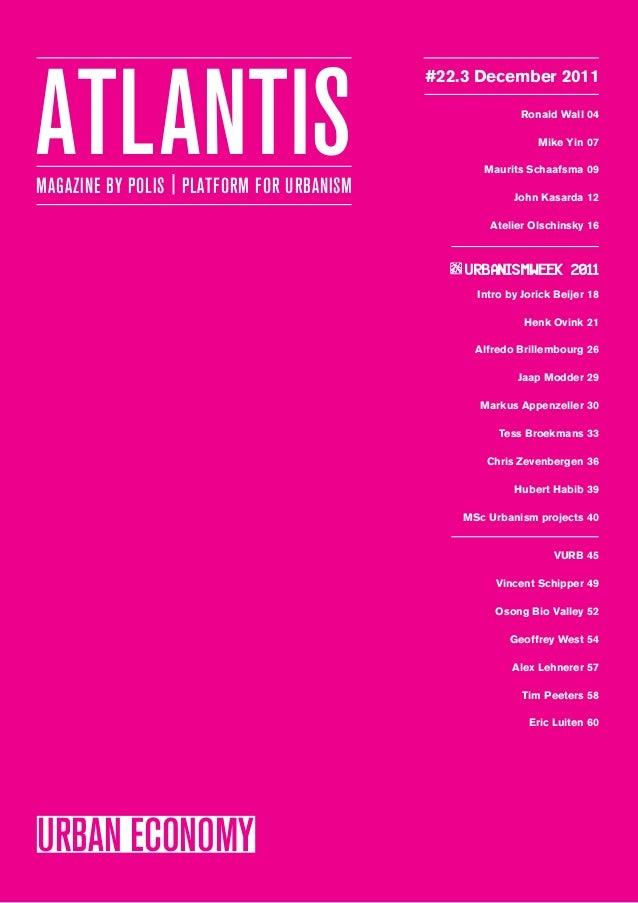 Atlantis 22.3 urban economy