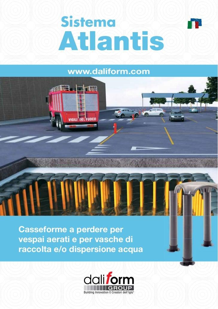 Sistema Atlantis di daliform Group per vasche di stoccaggio o dispersione