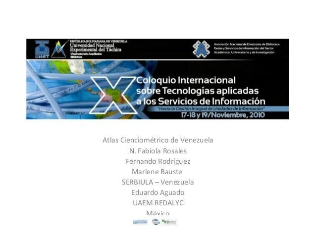 Atlas Cienciométrico de Venezuela