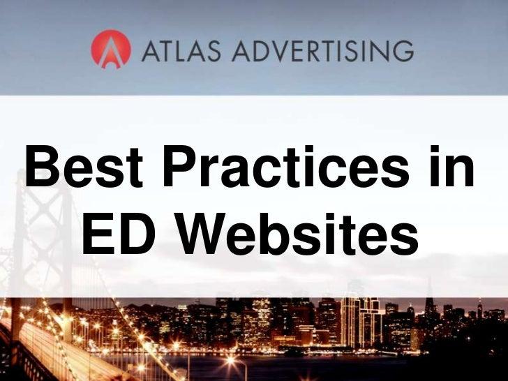 Best Practices in ED Websites<br />