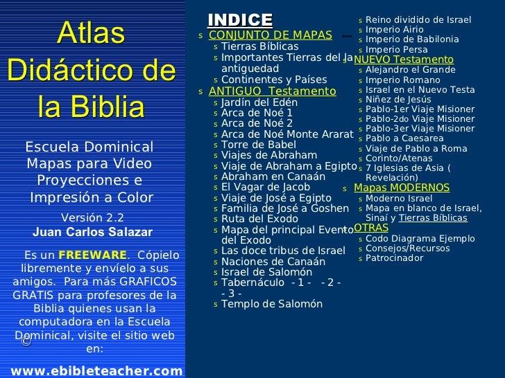 INDICE                             s Reino dividido de Israel    Atlas                        s   CONJUNTO DE MAPAS       ...