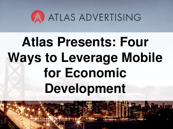 Four Ways to Leverage Mobile for Economic Development
